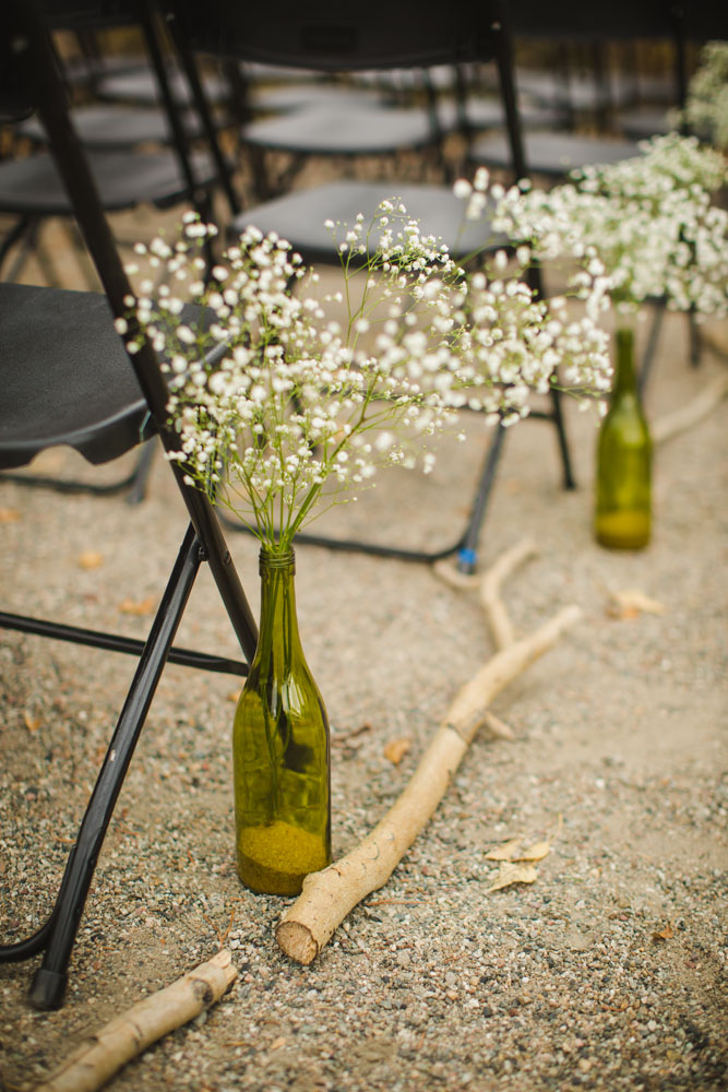 bridal-bouquet, white-flowers-bouquet, DIY-brides-bouquet, colorado-wedding-photography, fall-mountain-wedding, details-of-wedding-day, wine-bottle-wedding-decor