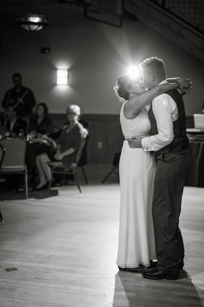 silverthorne-pavillion, silverthorne-wedding-reception, colorado-reception-venue, colorado-wedding-photographer, first-dance, black-and-white