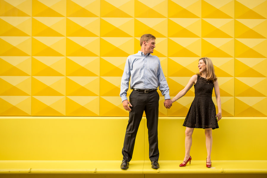 fun colorful candid engagement photo Phoenix Arizona wedding photographer