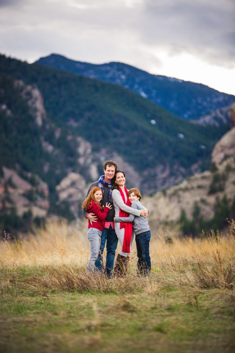 stunning mountain backdrop loving colorful winter family photograph