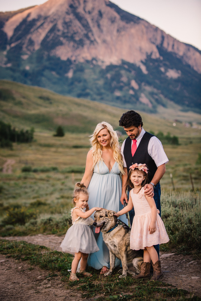 mountain family photos in Crested Butte Colorado