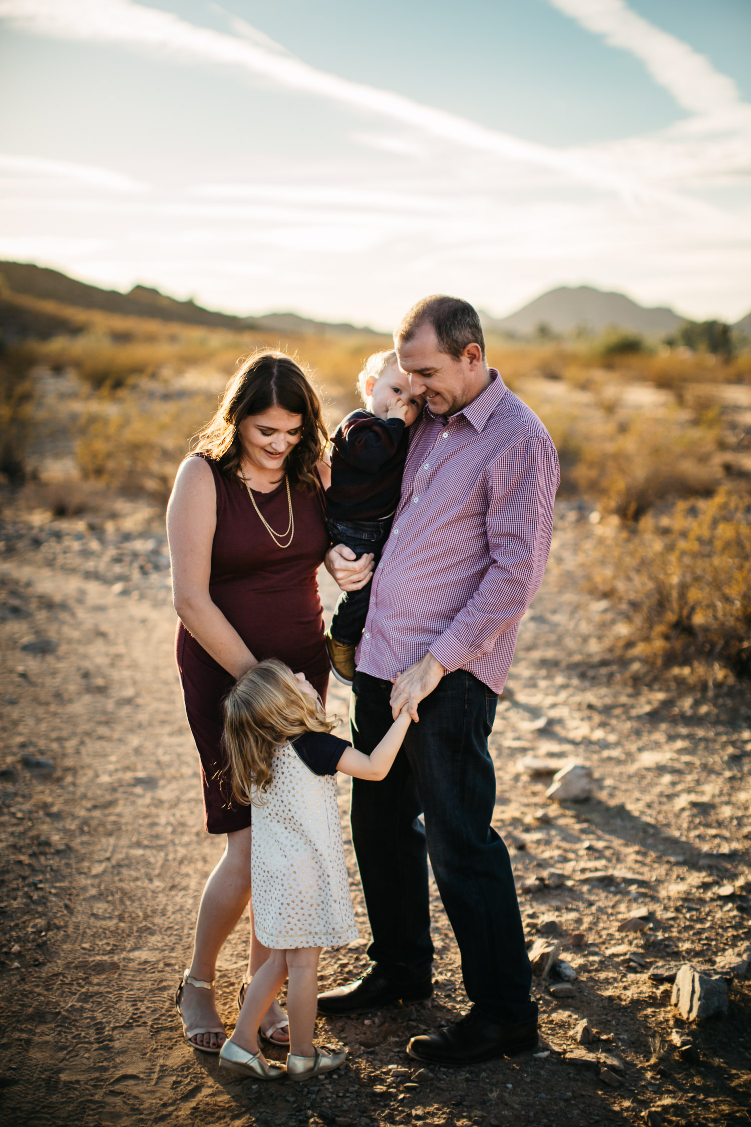 Phoenix family photography session sunlight mountain desert candid bold bright